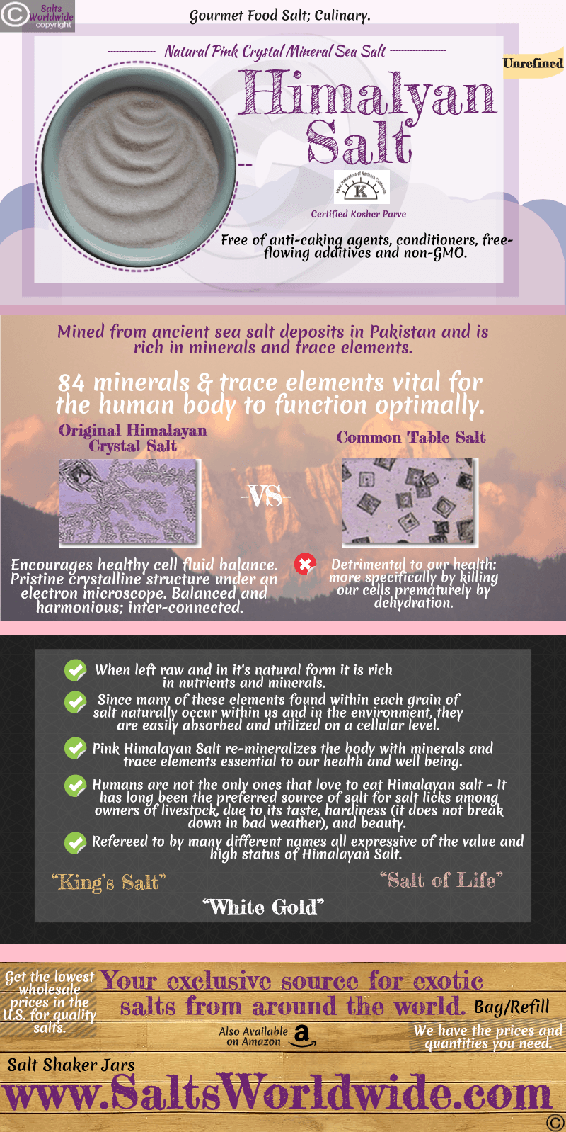 SaltsWorldwide Himalayan Salt Amazon INFOGRAPHIC