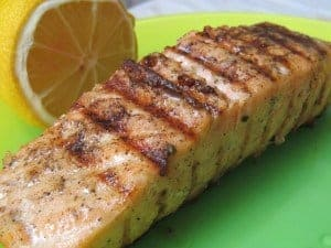 Grilled Salmon with Black Lava Hawaiian Salt