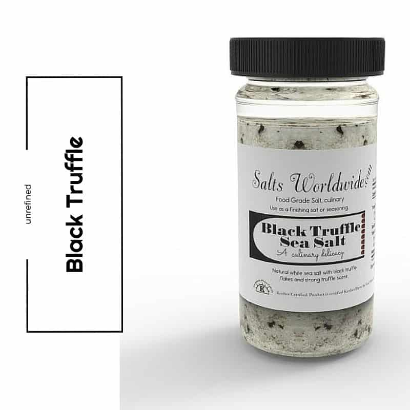Black Truffle Salt – 4 oz. Glass Salt Shaker