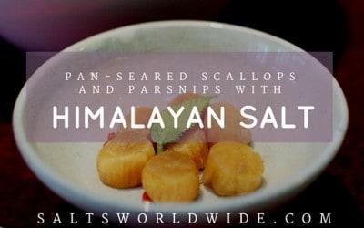 Pan-Seared Scallops and Parsnips with Himalayan Salt