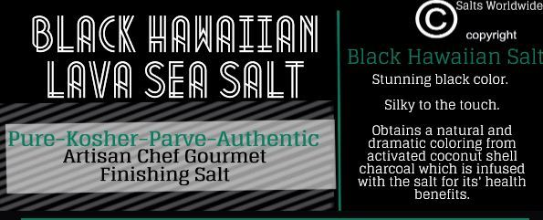 What is Black Lava Hawaiian Sea Salt?