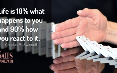 Life is 10% what happens to you and 90% how you react to it – Charles R. Swindoll