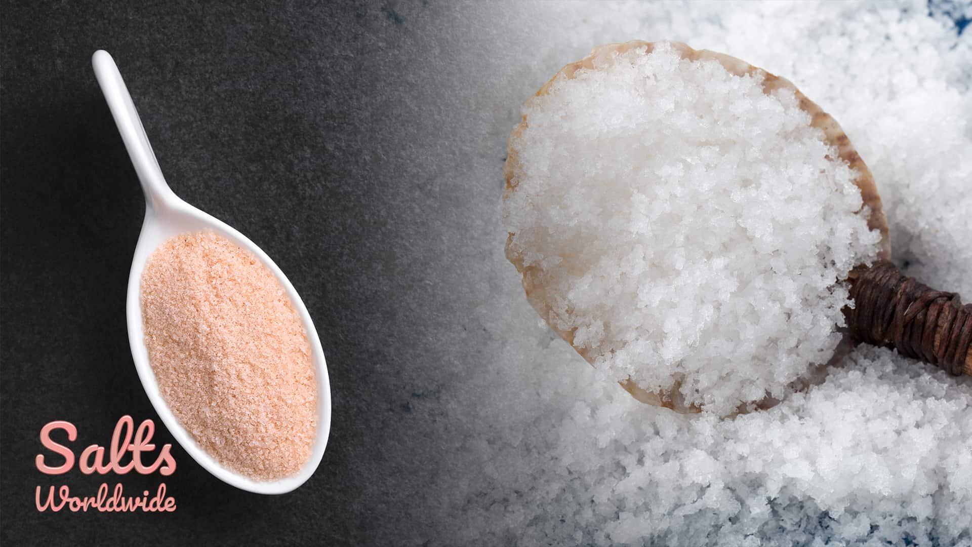 Pink Himalayan Salt Versus Sea Salt - Himalayan Salt and Sea Salt Bath Scrubs